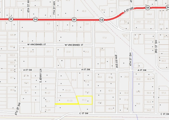 6th St SW - Map
